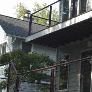 deck railing exterior view