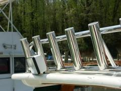 custom stainless steel cabin top rod holders